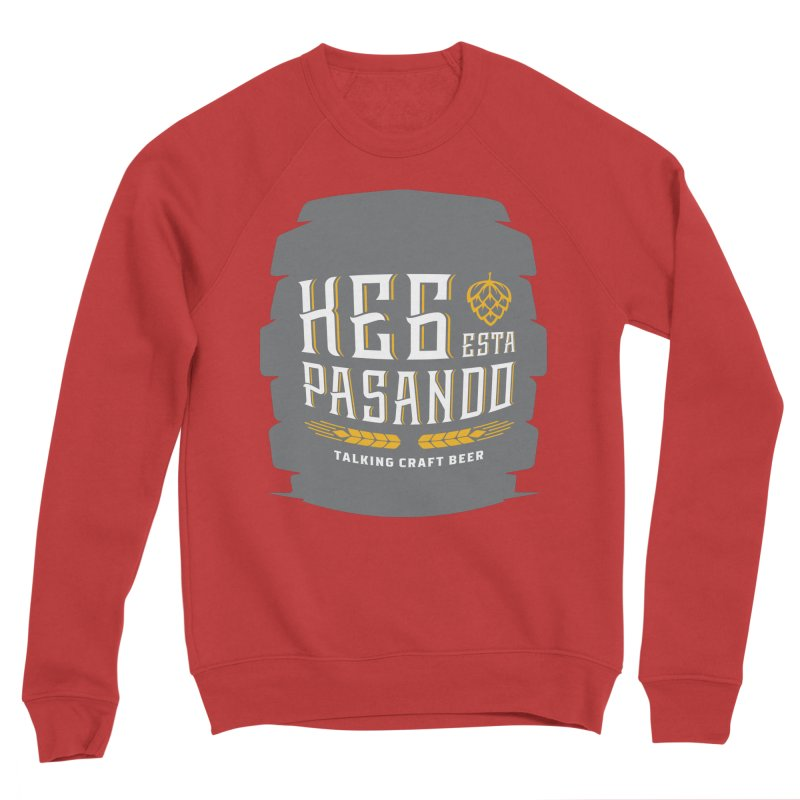 Kept Big Keg (with hop) Men's Sponge Fleece Sweatshirt by Talking Craft Beer Shop