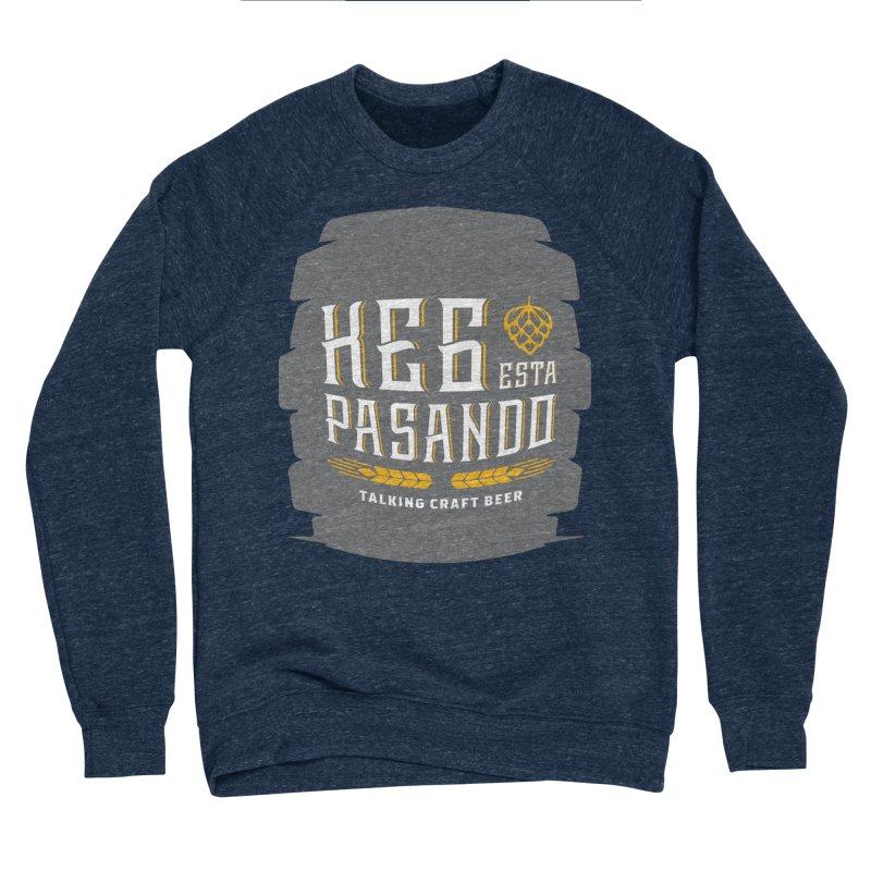 Kept Big Keg (with hop) Men's Sponge Fleece Sweatshirt by Talking Craft Beer Shop
