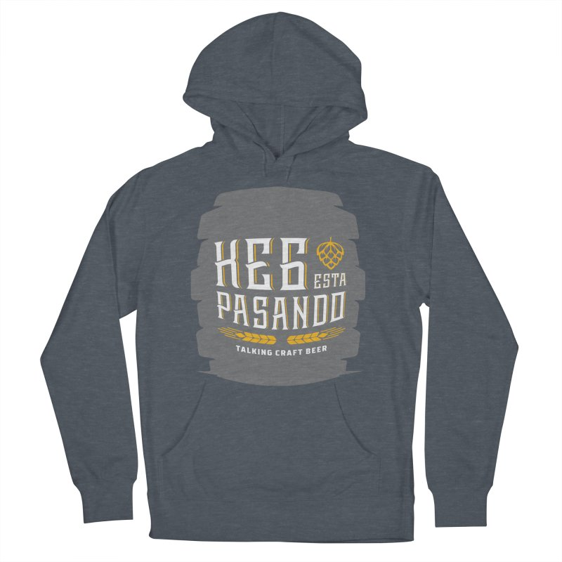 Kept Big Keg (with hop) Men's French Terry Pullover Hoody by Talking Craft Beer Shop