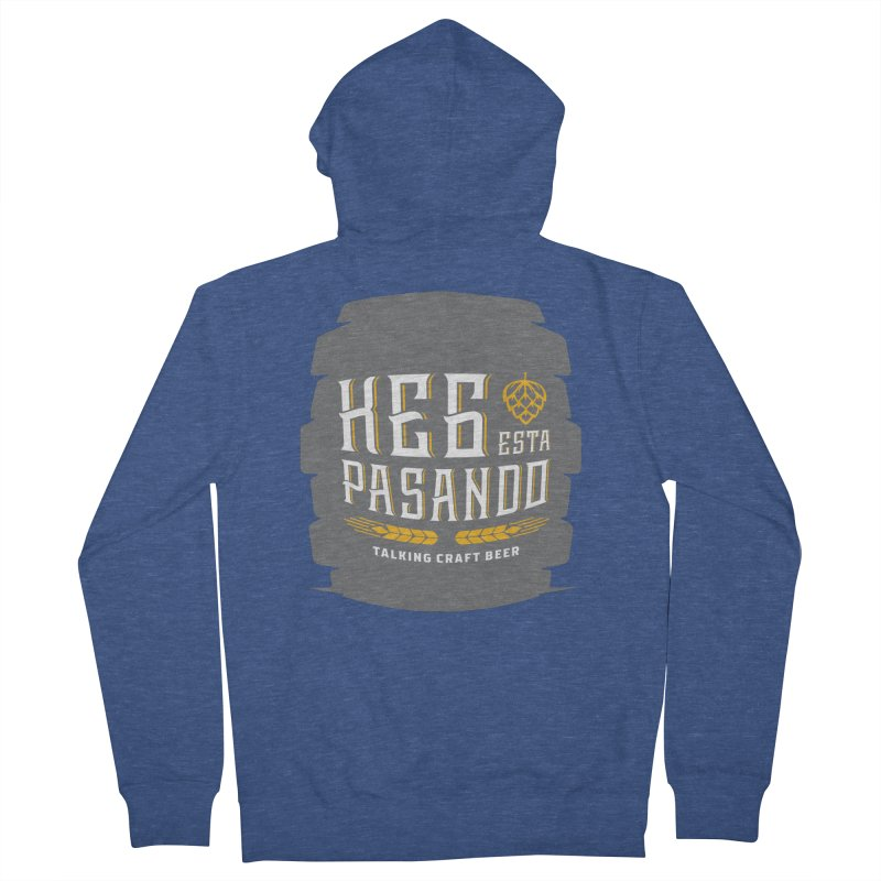 Kept Big Keg (with hop) Women's French Terry Zip-Up Hoody by Talking Craft Beer Shop