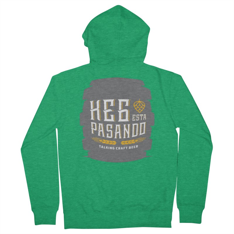Kept Big Keg (with hop) Men's French Terry Zip-Up Hoody by Talking Craft Beer Shop