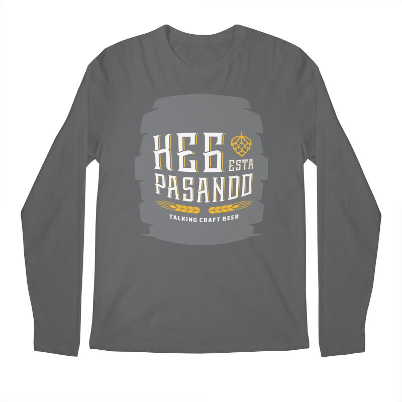 Kept Big Keg (with hop) Men's Regular Longsleeve T-Shirt by Talking Craft Beer Shop