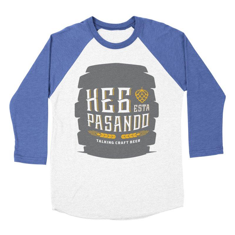 Kept Big Keg (with hop) Women's Baseball Triblend Longsleeve T-Shirt by Talking Craft Beer Shop