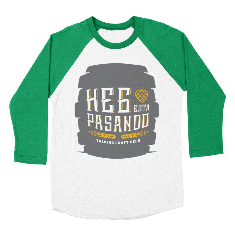 Kept Big Keg (with hop) Women's Baseball Triblend Longsleeve T-Shirt by Talking Craft Beer Shop