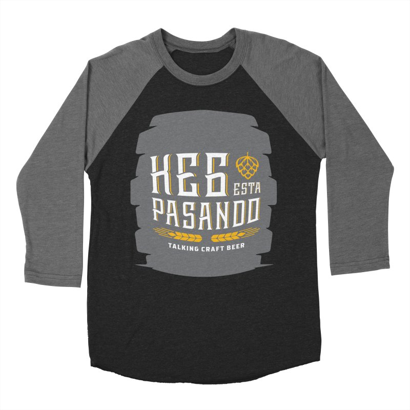 Kept Big Keg (with hop) Men's Baseball Triblend Longsleeve T-Shirt by Talking Craft Beer Shop