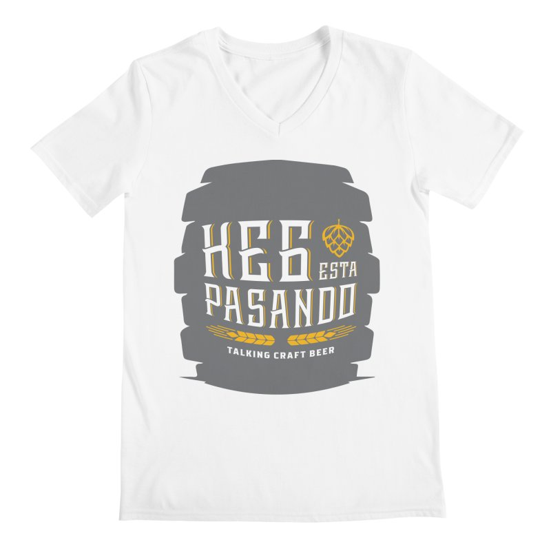Kept Big Keg (with hop) Men's V-Neck by Talking Craft Beer Shop