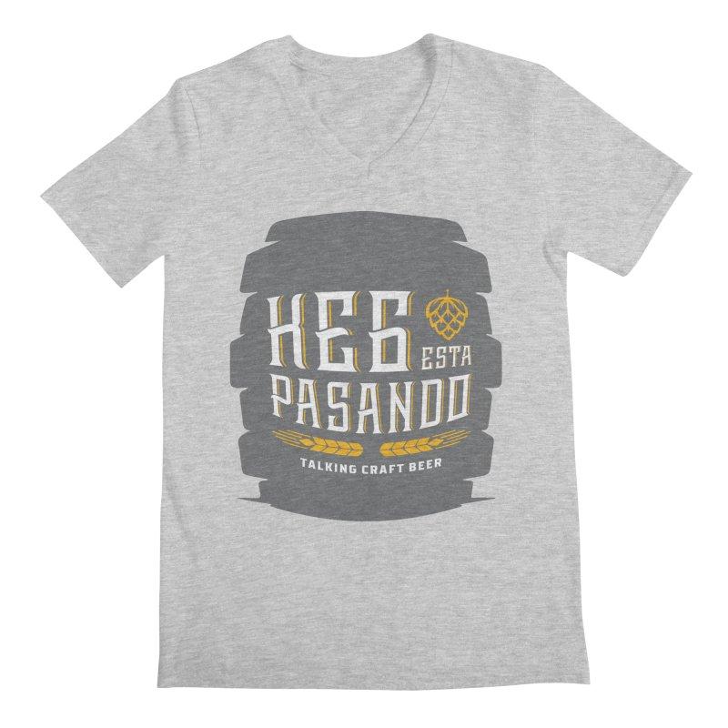 Kept Big Keg (with hop) Men's Regular V-Neck by Talking Craft Beer Shop