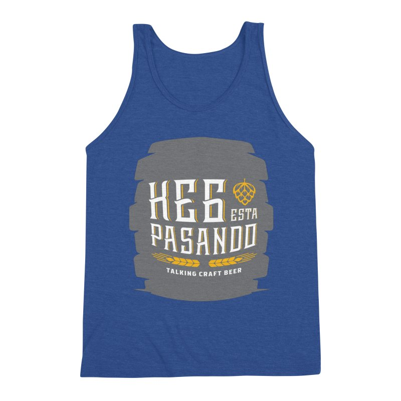 Kept Big Keg (with hop) Men's Triblend Tank by Talking Craft Beer Shop