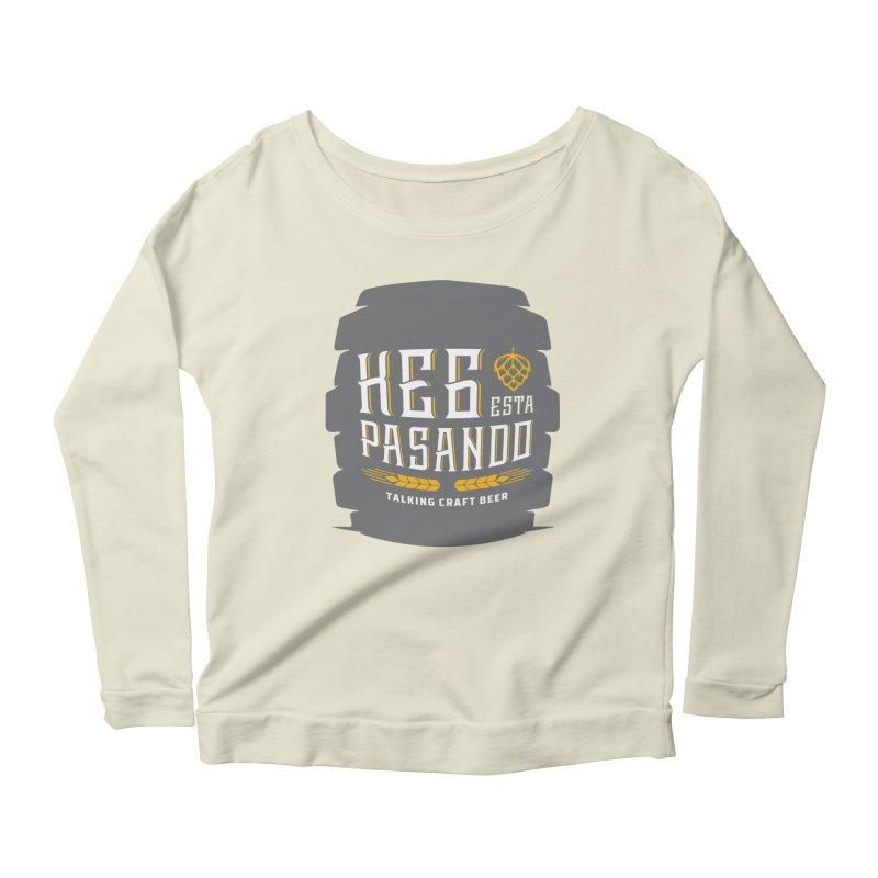 Kept Big Keg (with hop) Women's Scoop Neck Longsleeve T-Shirt by Talking Craft Beer Shop