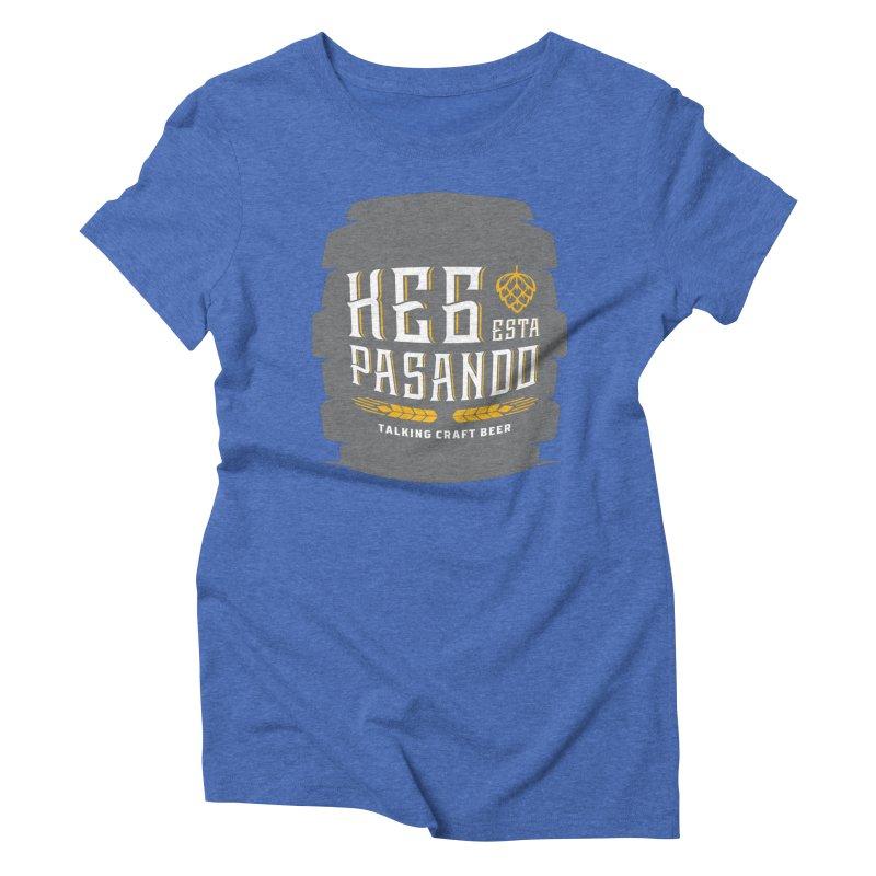 Kept Big Keg (with hop) Women's Triblend T-Shirt by Talking Craft Beer Shop