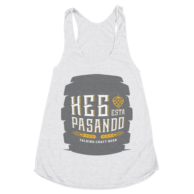 Kept Big Keg (with hop) Women's Racerback Triblend Tank by Talking Craft Beer Shop