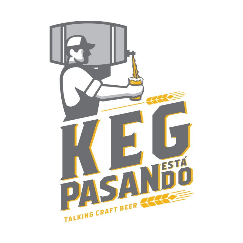 Kept Keg Pour (Grey) Men's T-Shirt by Talking Craft Beer Shop