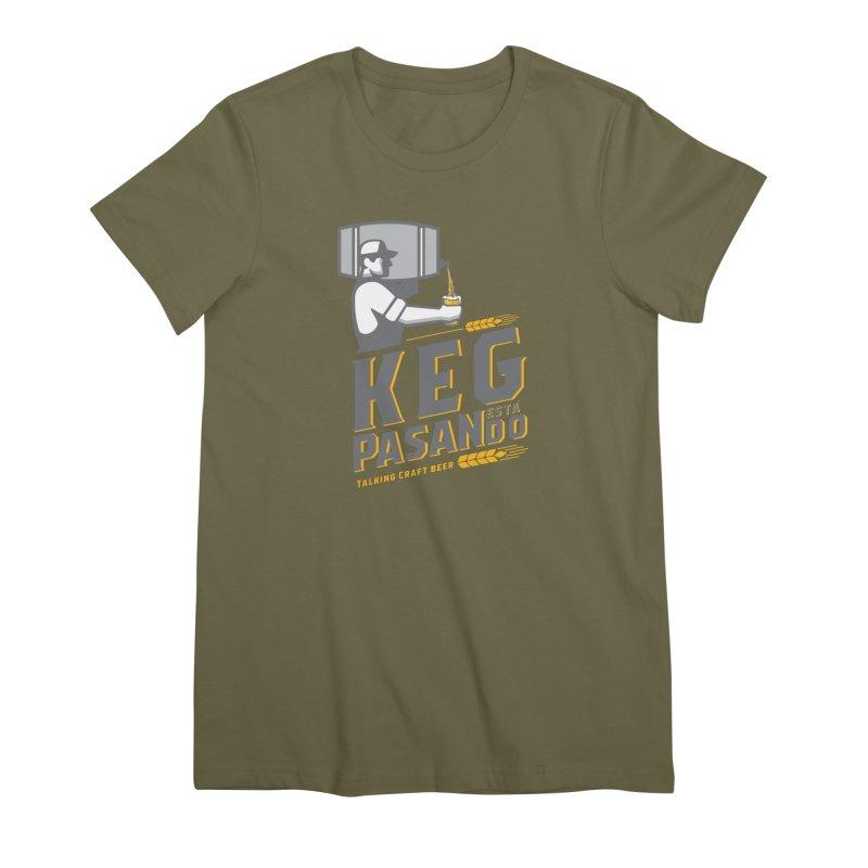 Kept Keg Pour (Grey) Women's Premium T-Shirt by Talking Craft Beer Shop