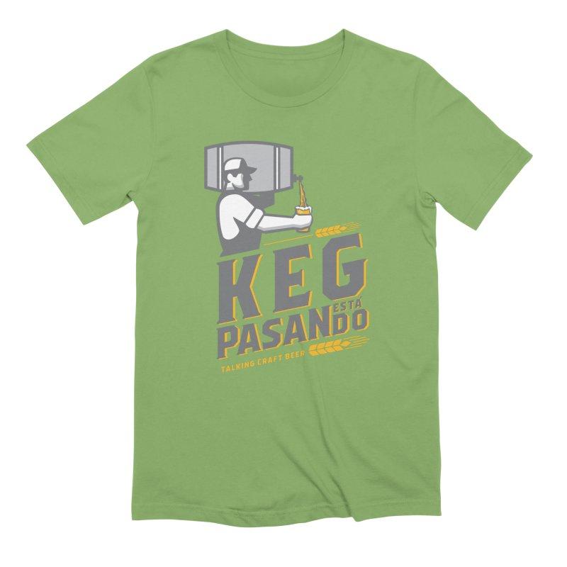 Kept Keg Pour (Grey) Men's T-Shirt by Talking Craft Beer Shop