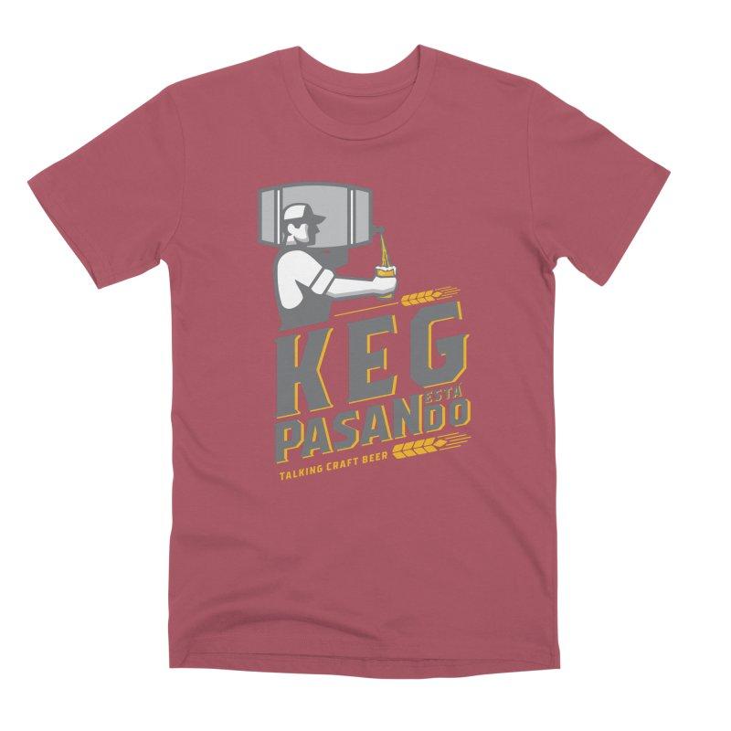 Kept Keg Pour (Grey) Men's Premium T-Shirt by Talking Craft Beer Shop