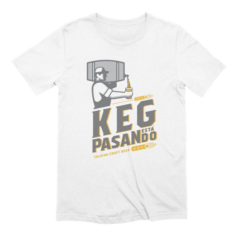 Kept Keg Pour (Grey) Men's Extra Soft T-Shirt by Talking Craft Beer Shop