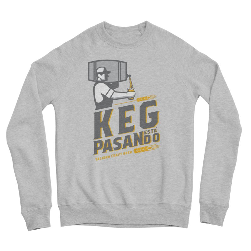 Kept Keg Pour (Grey) Men's Sponge Fleece Sweatshirt by Talking Craft Beer Shop