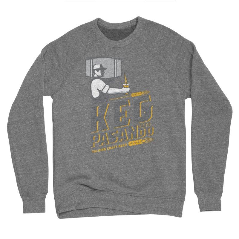 Kept Keg Pour (Grey) Men's Sponge Fleece Sweatshirt by Talking Craft Beer Shop
