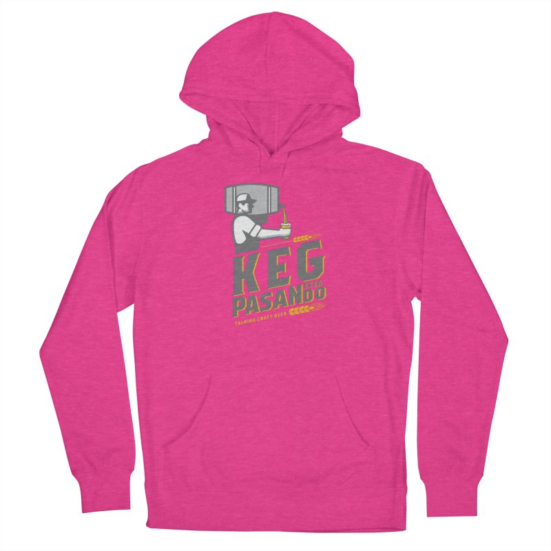 Kept Keg Pour (Grey) Men's French Terry Pullover Hoody by Talking Craft Beer Shop