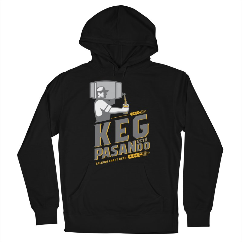 Kept Keg Pour (Grey) Women's French Terry Pullover Hoody by Talking Craft Beer Shop