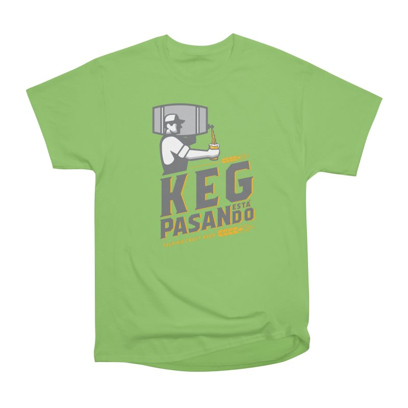 Kept Keg Pour (Grey) Women's Heavyweight Unisex T-Shirt by Talking Craft Beer Shop