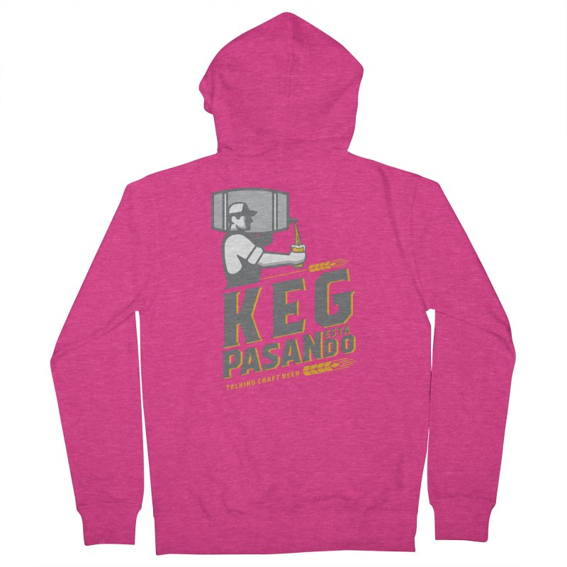 Kept Keg Pour (Grey) Women's French Terry Zip-Up Hoody by Talking Craft Beer Shop