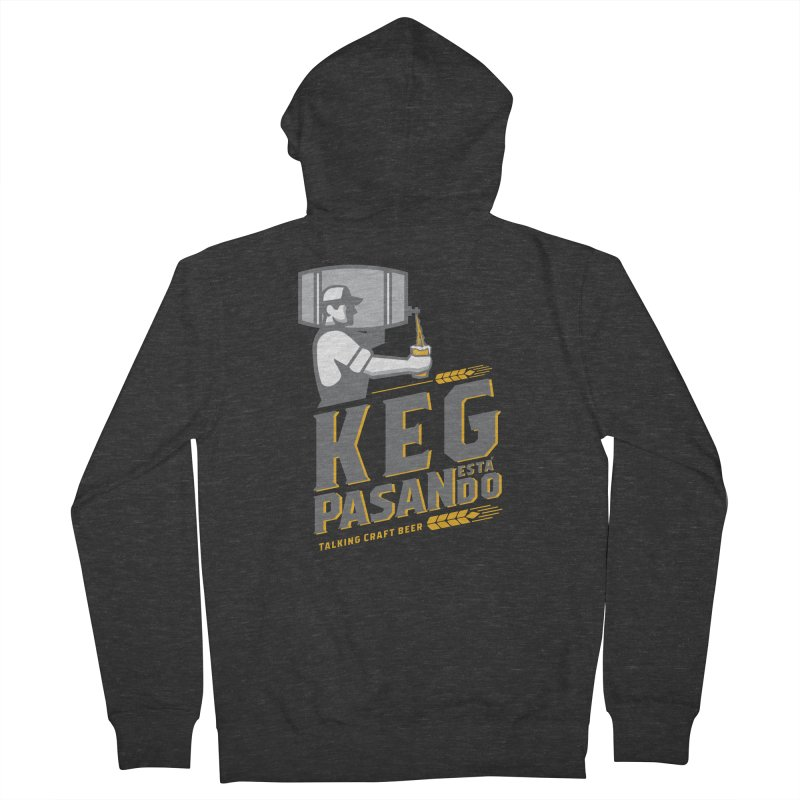 Kept Keg Pour (Grey) Men's French Terry Zip-Up Hoody by Talking Craft Beer Shop