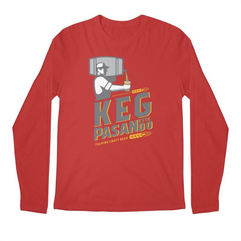 Kept Keg Pour (Grey) Men's Regular Longsleeve T-Shirt by Talking Craft Beer Shop