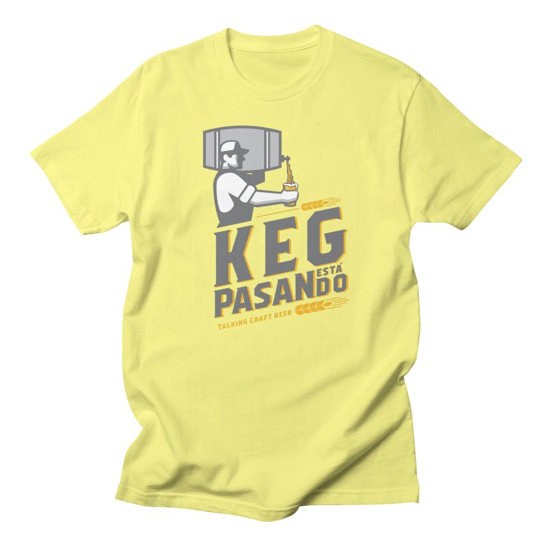 Kept Keg Pour (Grey) Men's Regular T-Shirt by Talking Craft Beer Shop