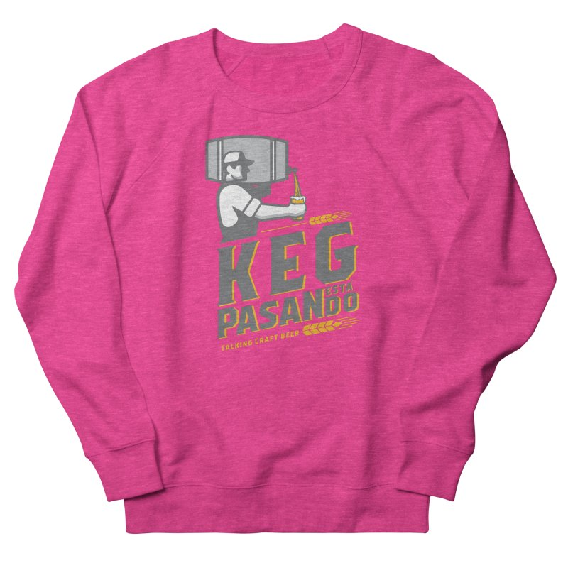 Kept Keg Pour (Grey) Women's French Terry Sweatshirt by Talking Craft Beer Shop
