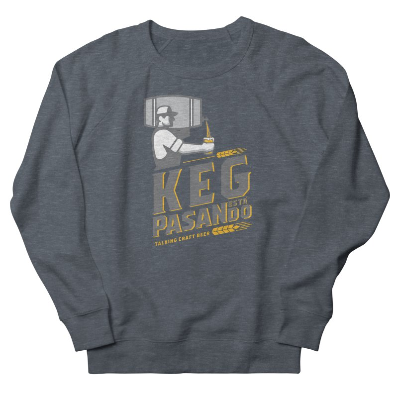 Kept Keg Pour (Grey) Men's French Terry Sweatshirt by Talking Craft Beer Shop