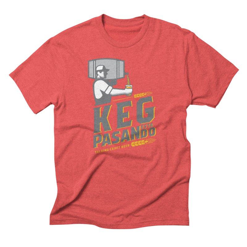 Kept Keg Pour (Grey) Men's Triblend T-Shirt by Talking Craft Beer Shop