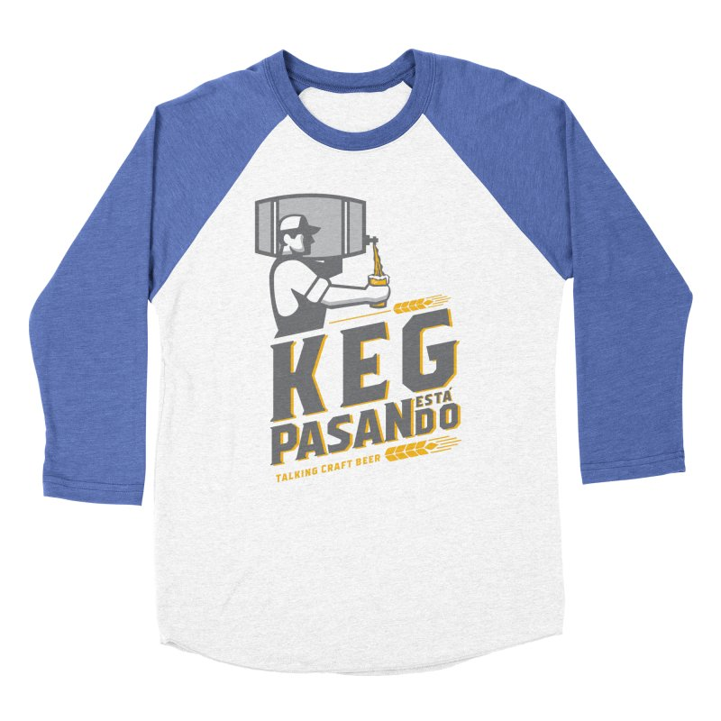 Kept Keg Pour (Grey) Men's Baseball Triblend Longsleeve T-Shirt by Talking Craft Beer Shop