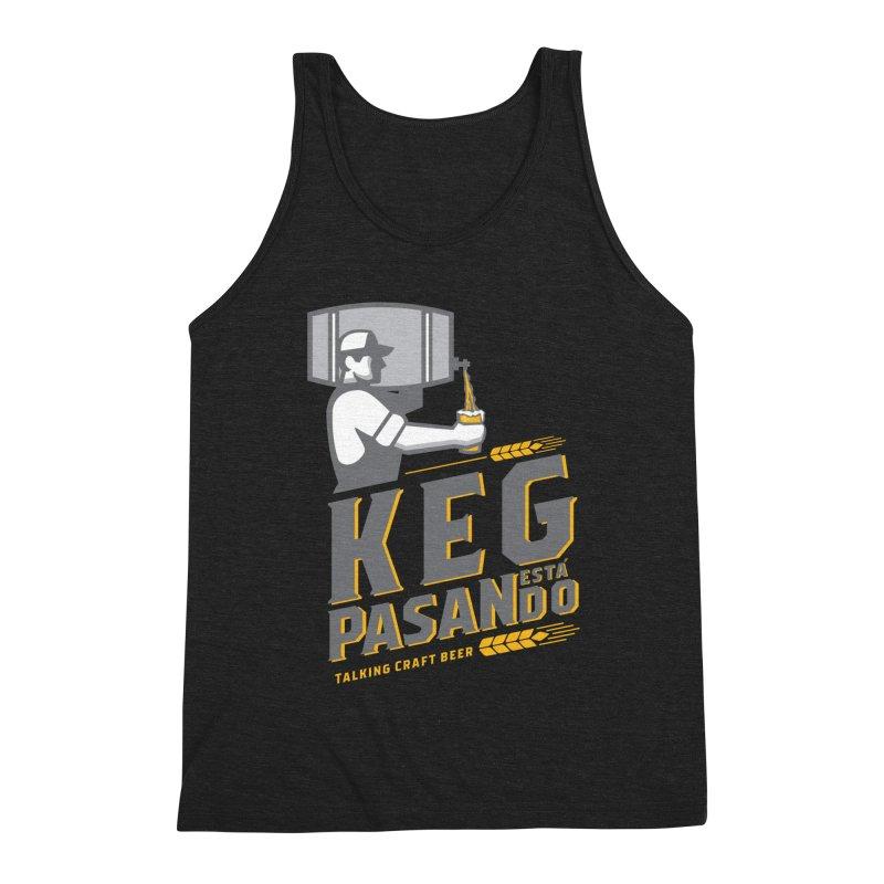 Kept Keg Pour (Grey) Men's Triblend Tank by Talking Craft Beer Shop