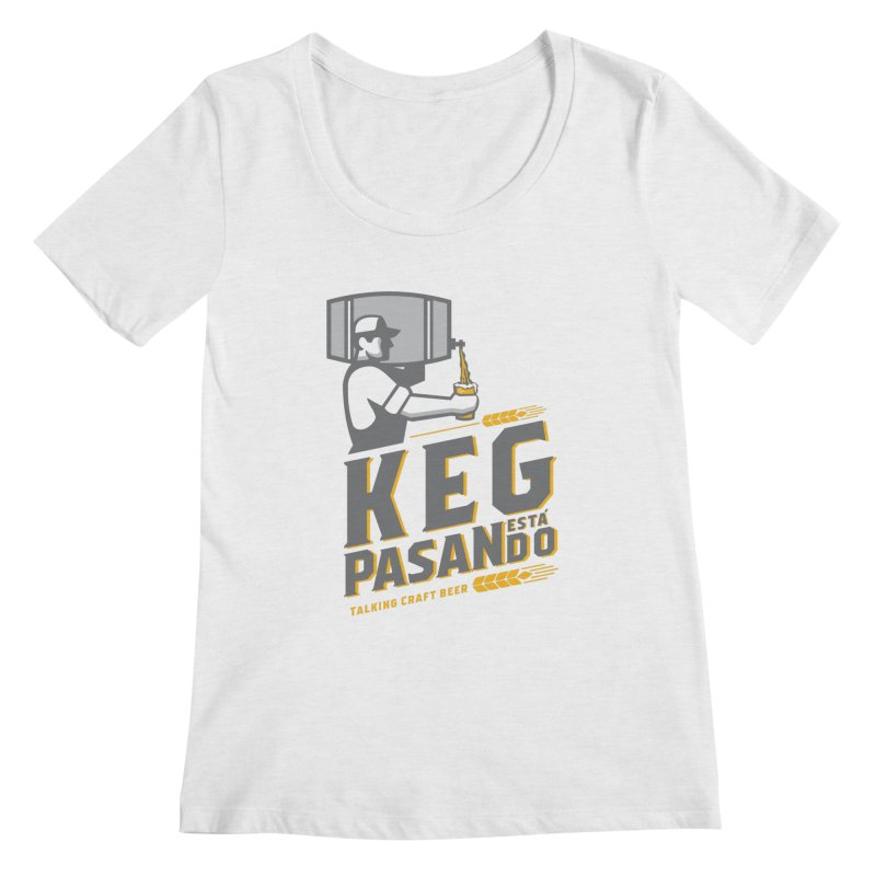 Kept Keg Pour (Grey) Women's Scoop Neck by Talking Craft Beer Shop