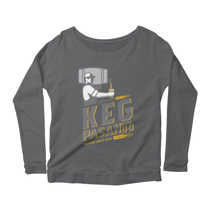 Kept Keg Pour (Grey) Women's Scoop Neck Longsleeve T-Shirt by Talking Craft Beer Shop