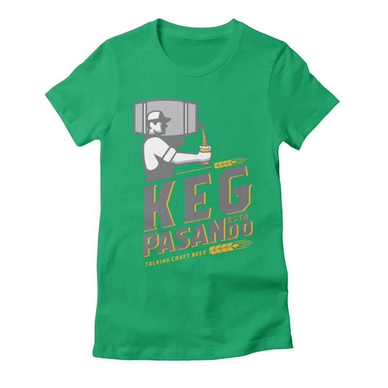 Kept Keg Pour (Grey) Women's Fitted T-Shirt by Talking Craft Beer Shop