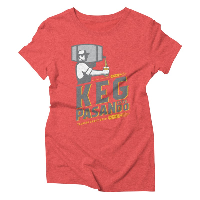 Kept Keg Pour (Grey) Women's Triblend T-Shirt by Talking Craft Beer Shop