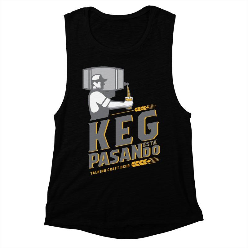 Kept Keg Pour (Grey) Women's Muscle Tank by Talking Craft Beer Shop