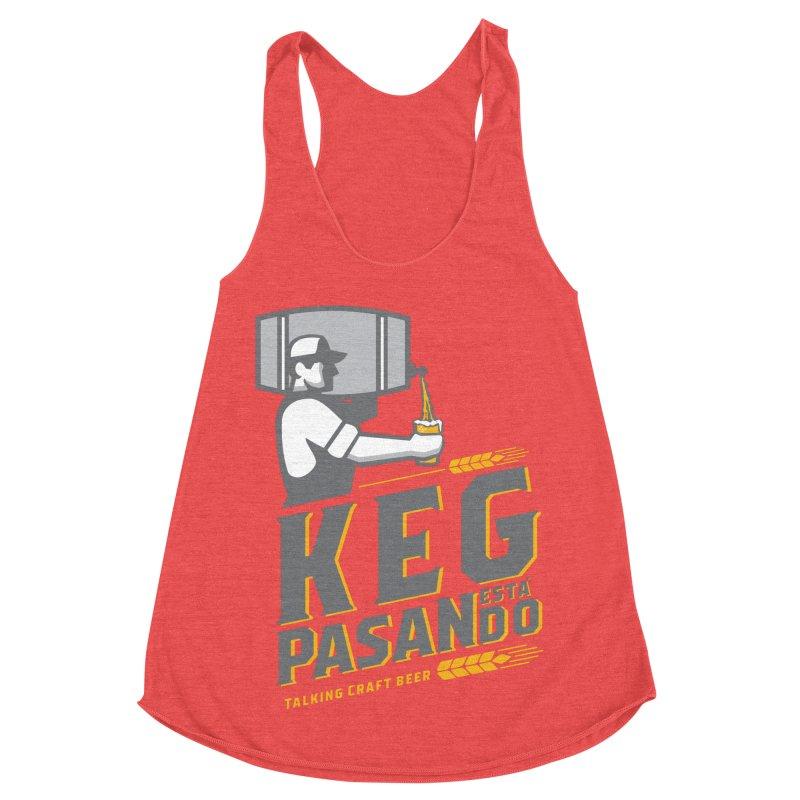 Kept Keg Pour (Grey) Women's Racerback Triblend Tank by Talking Craft Beer Shop