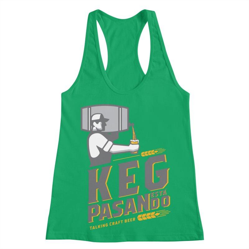 Kept Keg Pour (Grey) Women's Racerback Tank by Talking Craft Beer Shop