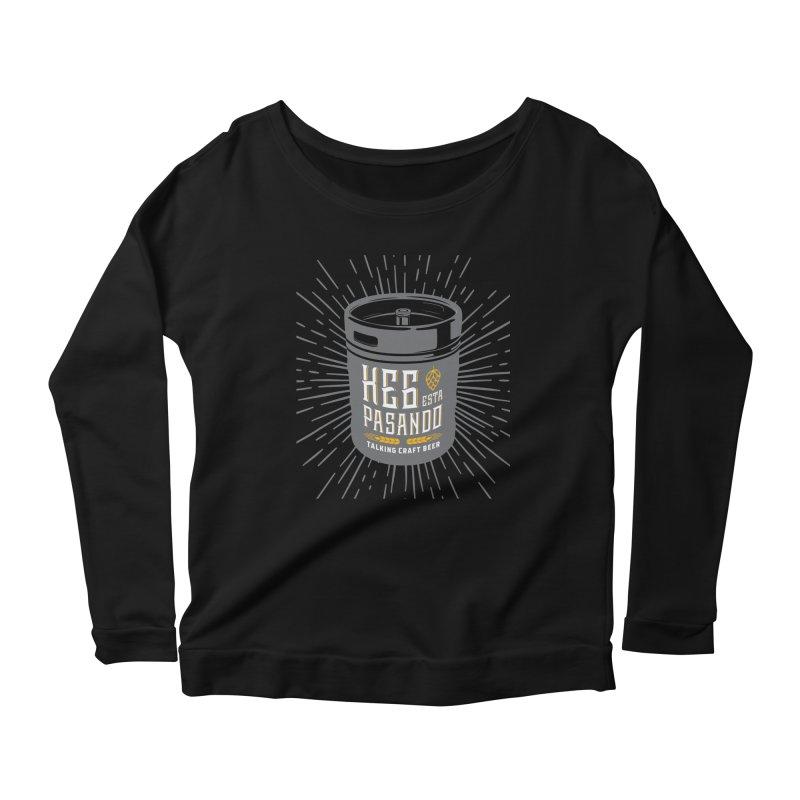 Kept Keg Highlight Women's Scoop Neck Longsleeve T-Shirt by Talking Craft Beer Shop
