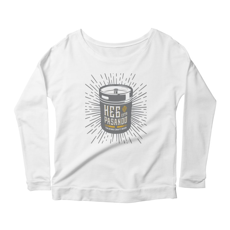 Kept Keg Highlight Women's Scoop Neck Longsleeve T-Shirt by Talking Craft Beer Shop
