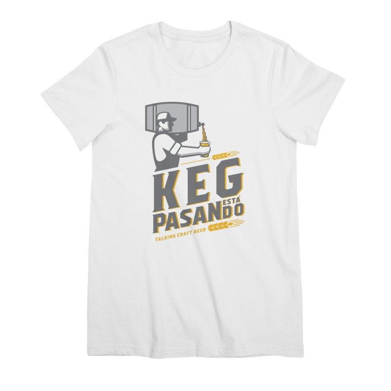 Kept Keg Pour (transparent) Women's Premium T-Shirt by Talking Craft Beer Shop