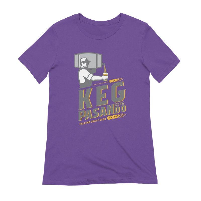 Kept Keg Pour (transparent) Women's Extra Soft T-Shirt by Talking Craft Beer Shop