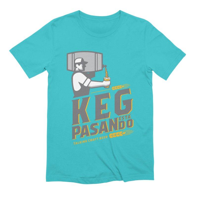 Kept Keg Pour (transparent) Men's T-Shirt by Talking Craft Beer Shop