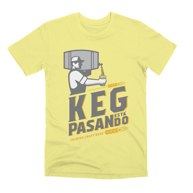 Kept Keg Pour (transparent) Men's Premium T-Shirt by Talking Craft Beer Shop