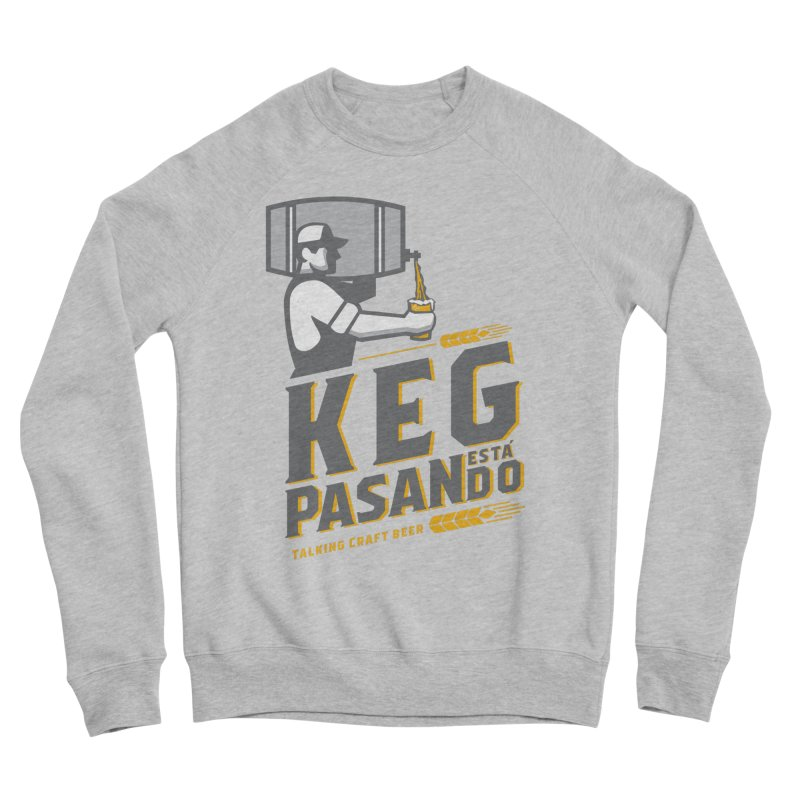 Kept Keg Pour (transparent) Men's Sponge Fleece Sweatshirt by Talking Craft Beer Shop