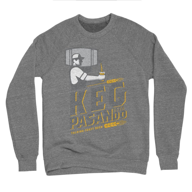 Kept Keg Pour (transparent) Men's Sponge Fleece Sweatshirt by Talking Craft Beer Shop