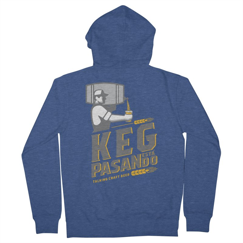 Kept Keg Pour (transparent) Women's French Terry Zip-Up Hoody by Talking Craft Beer Shop